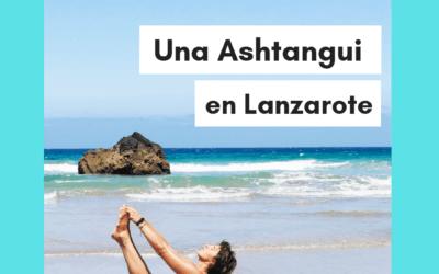 Una ashtangui en Lanzarote